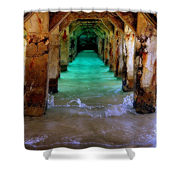 PILLARS of TIME Shower Curtain by KAREN WILES