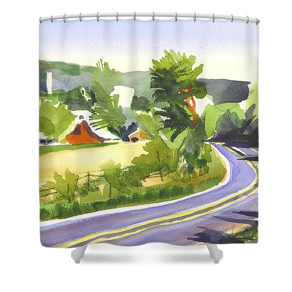 Pilot Knob Mountain Out Jj Shower Curtain by Kip DeVore