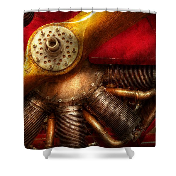 Pilot - Prop - The barnstormer Shower Curtain by Mike Savad