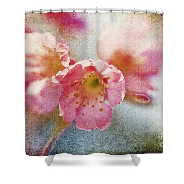 Pink Blossom Shower Curtain by Scott Pellegrin
