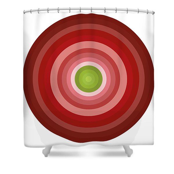 Pink Circles Shower Curtain by Frank Tschakert