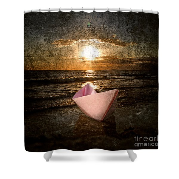 pink dreams Shower Curtain by Stylianos Kleanthous