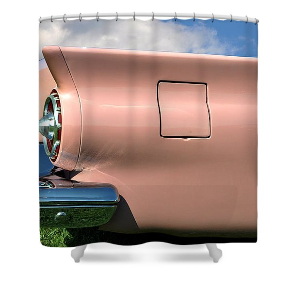 Pink Fins Shower Curtain by Bill Cannon
