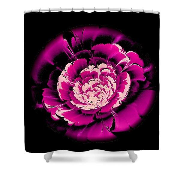 Pink Flower Shower Curtain by Anastasiya Malakhova