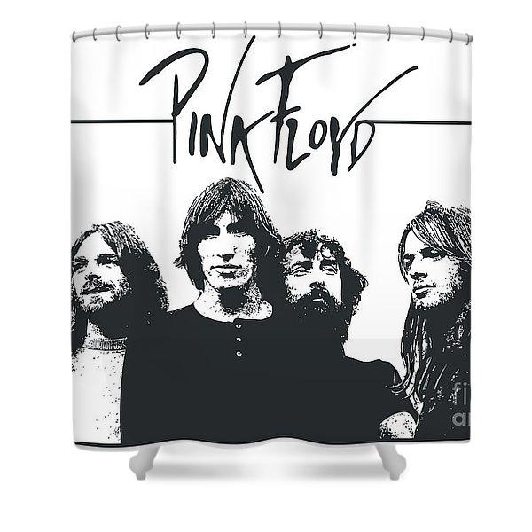 Pink Floyd No.05 Shower Curtain by Caio Caldas
