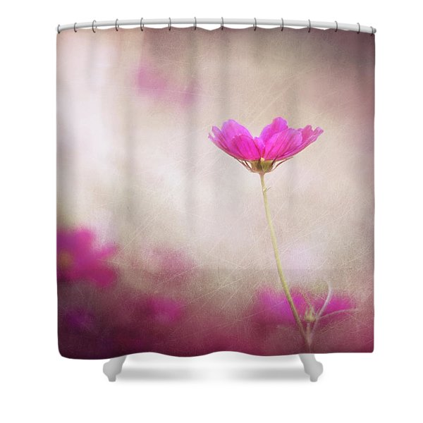 Pink Nouveau Shower Curtain by Amy Tyler