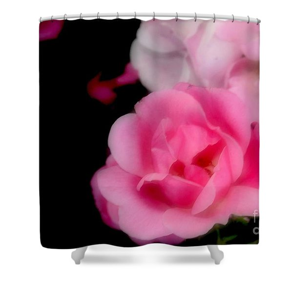 Pink Roses Shower Curtain by Kathleen Struckle