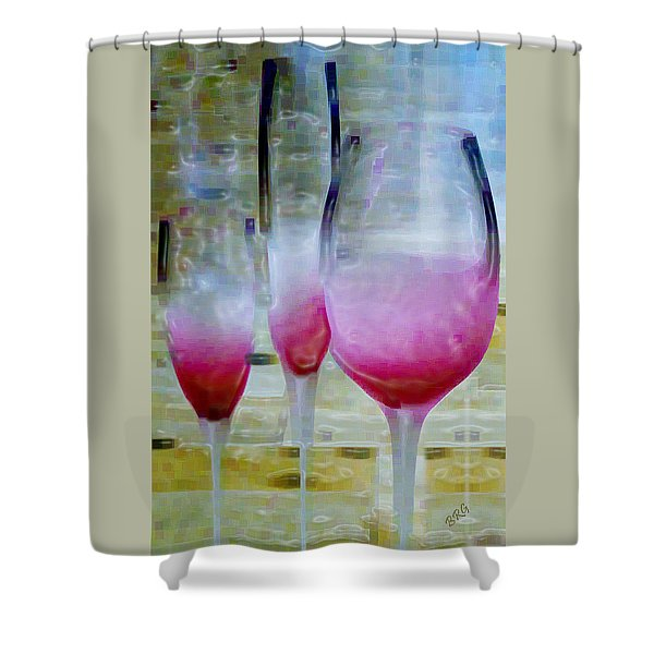Pink Summer Shower Curtain by Ben and Raisa Gertsberg