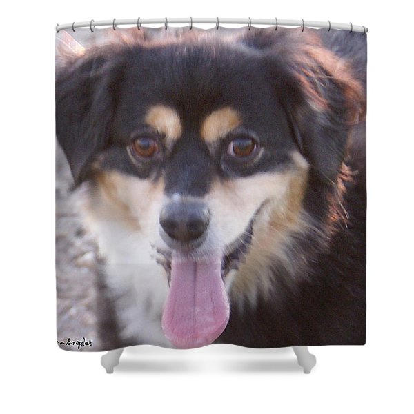 Pink Tongue Shower Curtain by Barbara Snyder