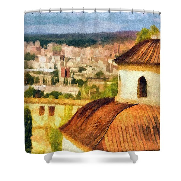 Pious Witness To The Passage Of Time Shower Curtain by Jeff Kolker