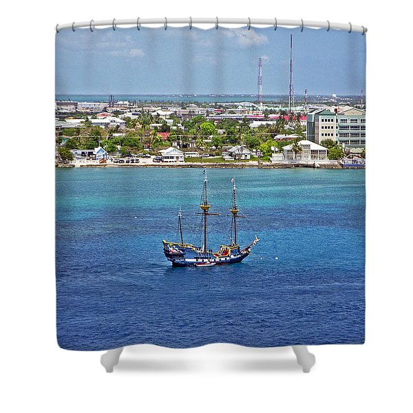 Pirate Ship in Cozumel Shower Curtain by Aimee L Maher Photography and Art