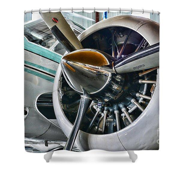 Plane First Class Shower Curtain by Paul Ward
