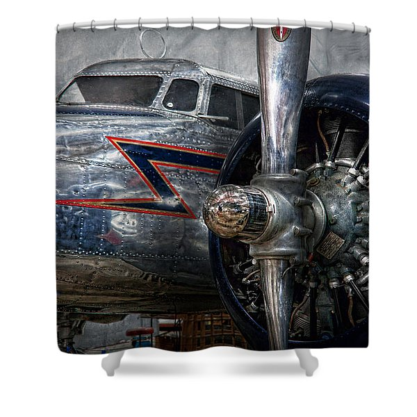 Plane - Hey fly boy  Shower Curtain by Mike Savad