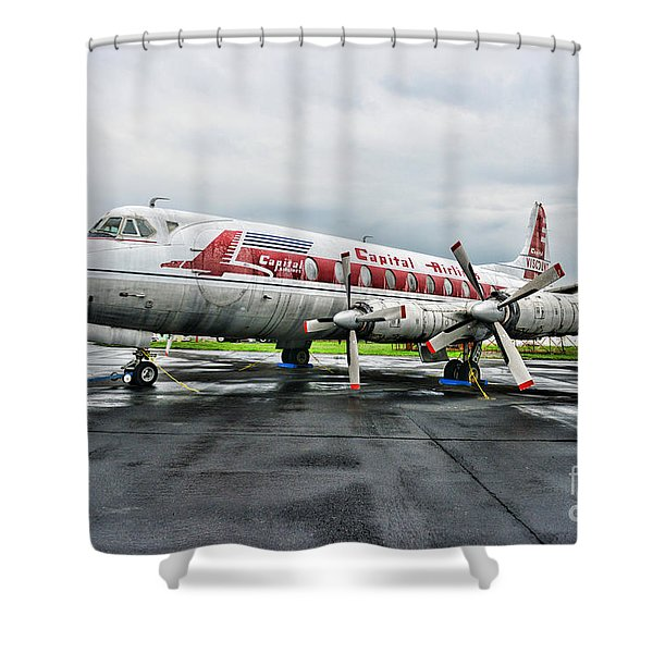 Plane Props on Capital Airlines Shower Curtain by Paul Ward