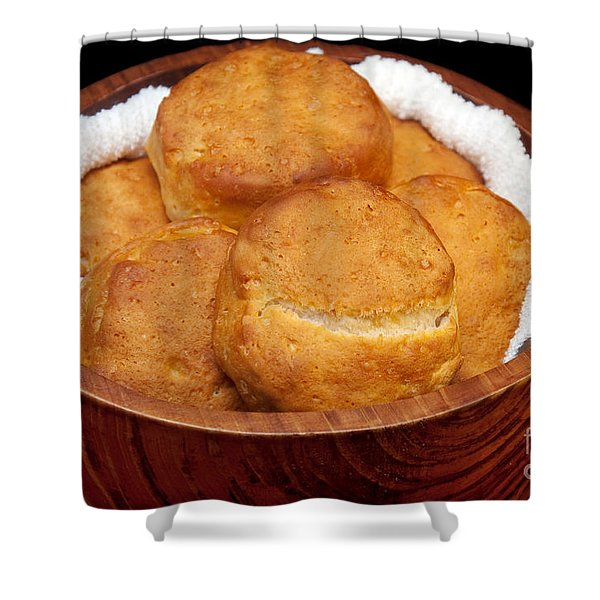 Please Pass The Biscuits Shower Curtain by Andee Design