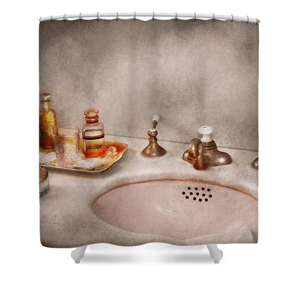 Plumber - First thing in the morning Shower Curtain by Mike Savad
