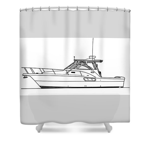 Pocket Yacht Profile Shower Curtain by Jack Pumphrey