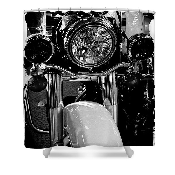 Police Harley II Shower Curtain by David Patterson