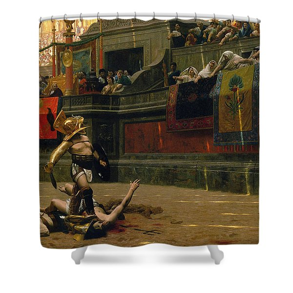 Pollice Verso Shower Curtain by War Is Hell Store