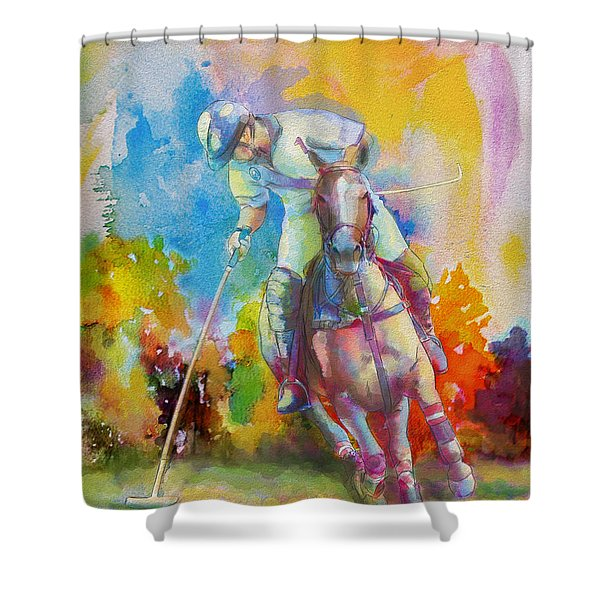 Polo Art Shower Curtain by Catf