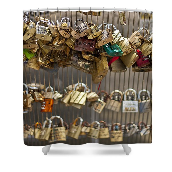 Pont Des Artes Shower Curtain by Nomad Art And  Design