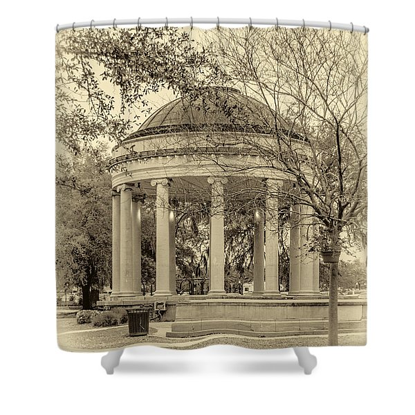 Popp Bandstand sepia Shower Curtain by Steve Harrington