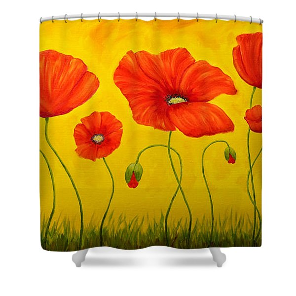 Poppies At The Time Of Shower Curtain by Veikko Suikkanen