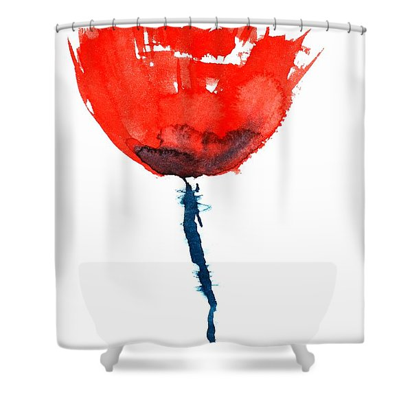 Poppy Shower Curtain by Zaira Dzhaubaeva