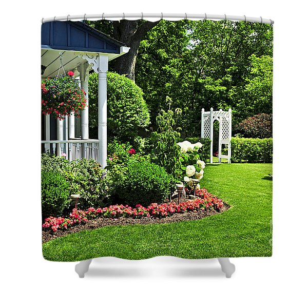 Porch And Garden Shower Curtain by Elena Elisseeva