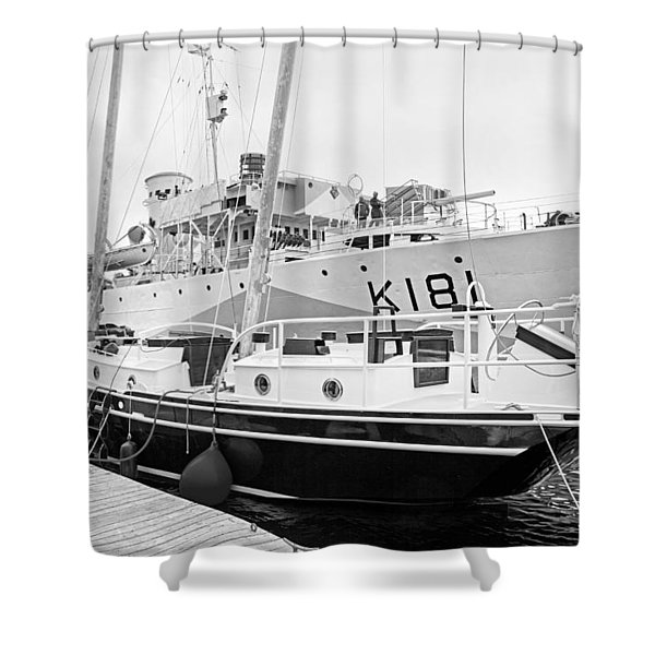 Port Shower Curtain by Betsy C  Knapp