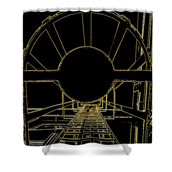 Portal Shower Curtain by Guy Pettingell