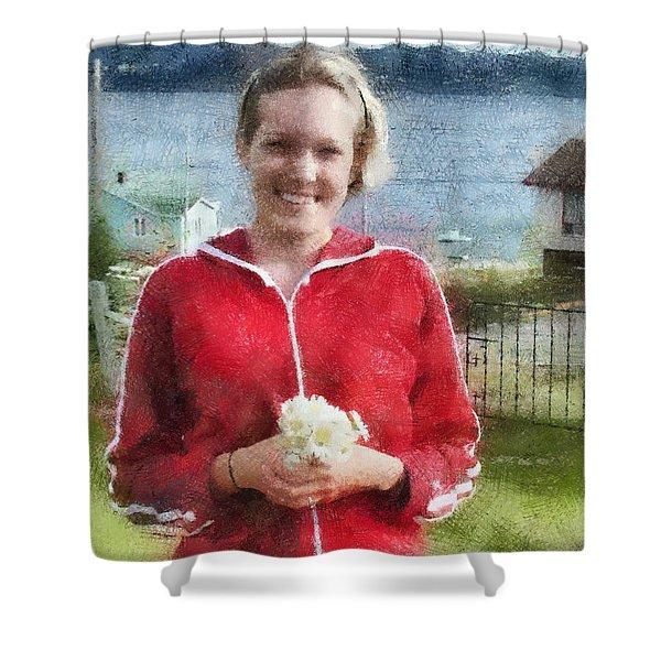 Portrait in Newfoundland Shower Curtain by Jeff Kolker