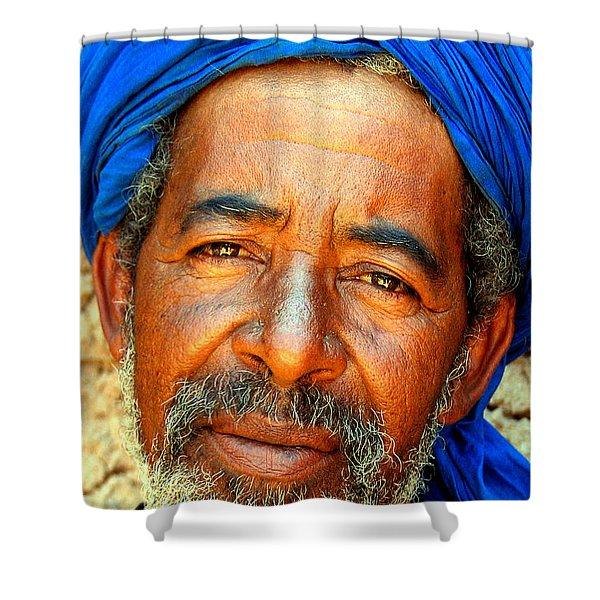 Portrait Of A Berber Man Shower Curtain by Ralph A  Ledergerber-Photography