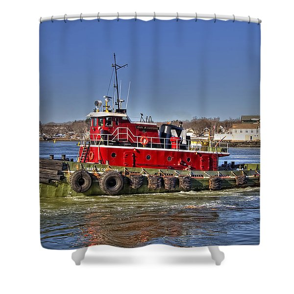 Portsmouth Tug Shower Curtain by Joann Vitali