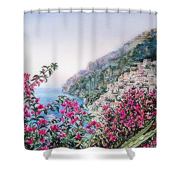 Positano Italy Shower Curtain by Irina Sztukowski