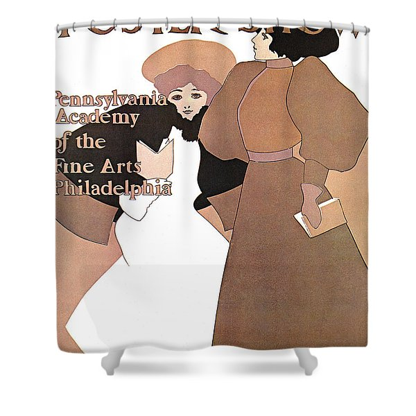 Poster Show 1896 Shower Curtain by MAXFIELD PARRISH