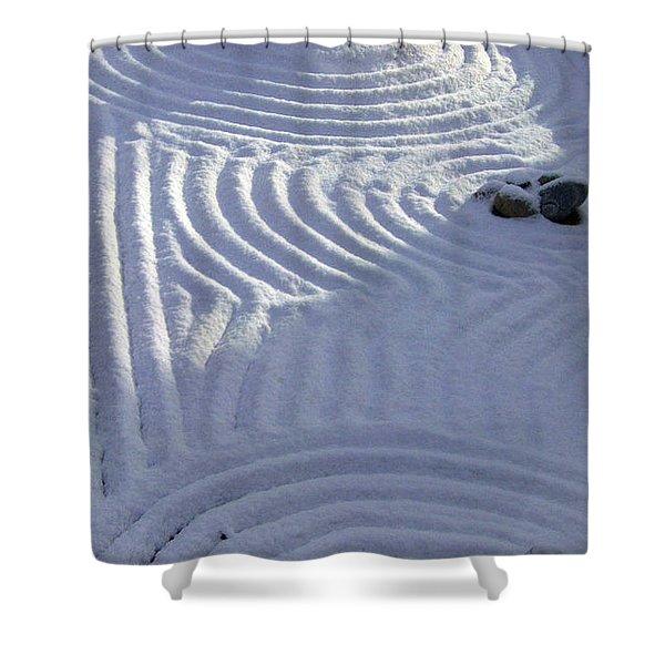 Powder In Zen Two Shower Curtain by Feile Case
