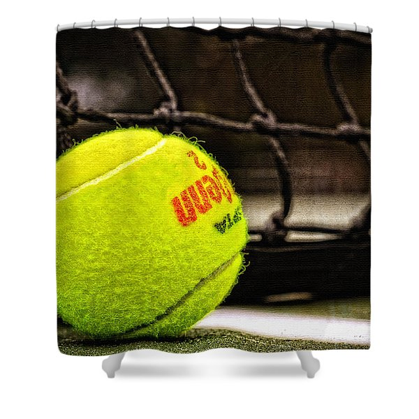 Practice - Tennis Ball By William Patrick and Sharon Cummings Shower Curtain by Sharon Cummings