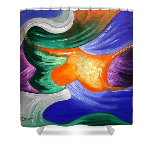 Praise The Lord Shower Curtain by Anthony Falbo