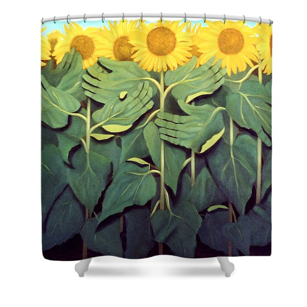 Praise The Son Shower Curtain by Anthony Falbo