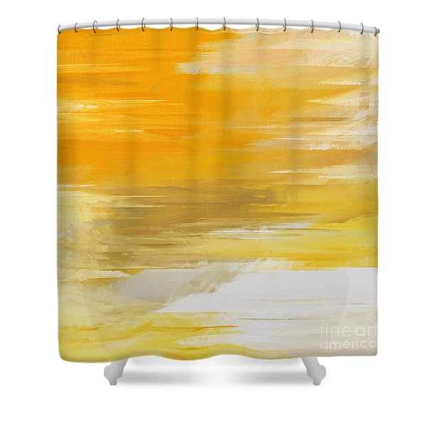 Precious Metals Abstract Shower Curtain by Andee Design