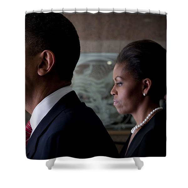 President and Mrs Obama Shower Curtain by Mountain Dreams