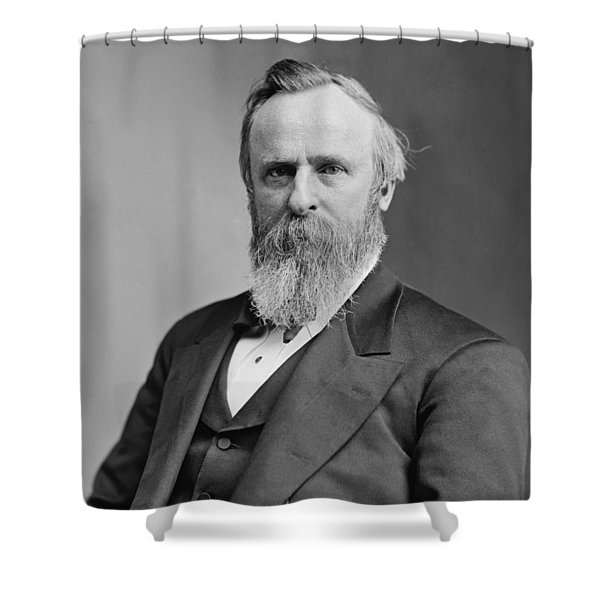President Rutherford Hayes Shower Curtain by War Is Hell Store