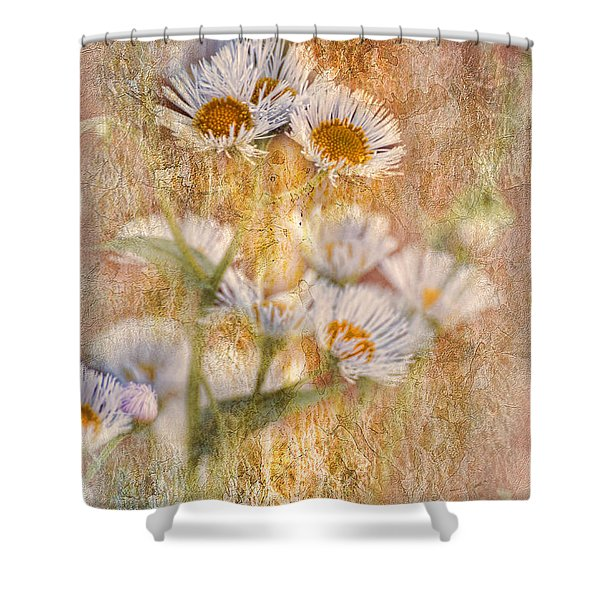 Pretty Little Weeds IIi Shower Curtain by Debbie Portwood