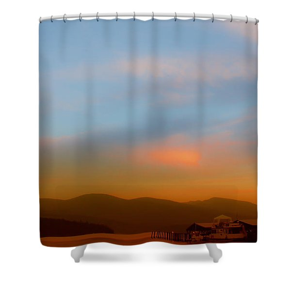Priest Lake at Dusk Shower Curtain by David Patterson