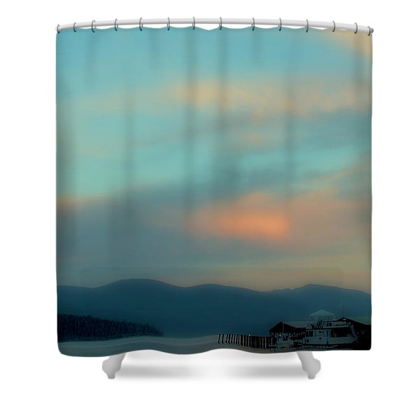 Priest Lake At Dusk II Shower Curtain by David Patterson