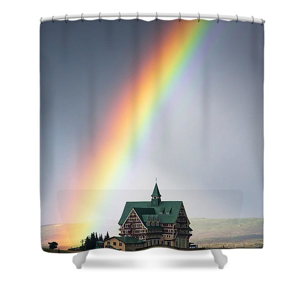 Prince Of Wales Rainbow Shower Curtain by Mark Kiver