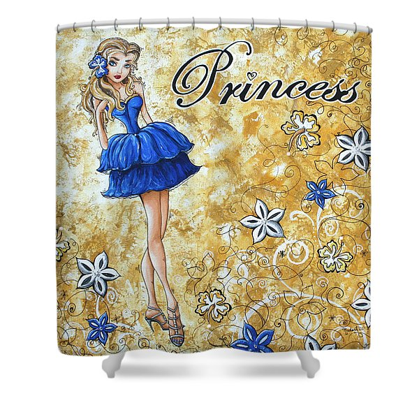 Princess By Madart Shower Curtain by Megan Duncanson
