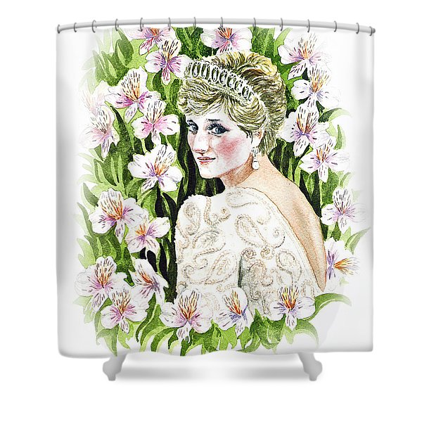 Princess Dianna Shower Curtain by Irina Sztukowski