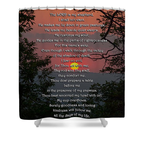 Sunset Bible Verse Shower Curtains For Sale